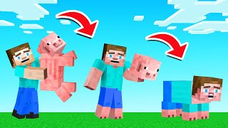 EAT MOB = YOU TRANSFORM INTO IT! (Minecraft)