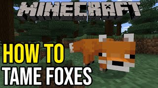 How To Tame Foxes In Minecraft (Xbox/PE/Switch)