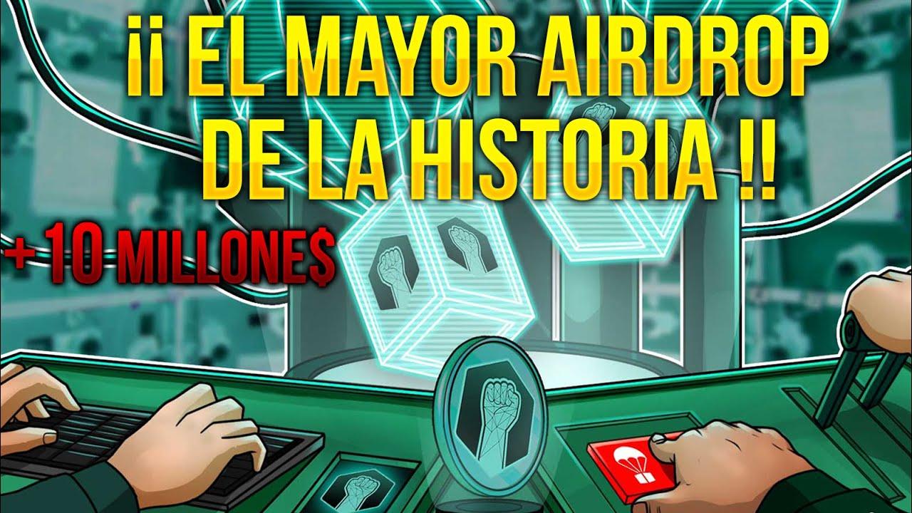 👉EL MAYOR AIRDROP de la HISTORIA 🤑 +10 MILLONES 🔥