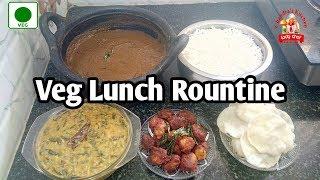 meal prep | vegetarian lunch ideas | lunch ideas | Veg Lunch Routine | karuveppilai kulambu