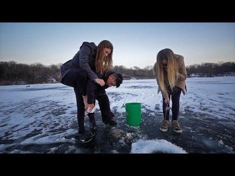 Ice Fishing In Flip Flops?!?!