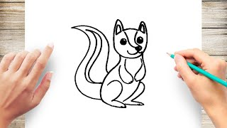 How to Draw Skunk Easy Step by Step