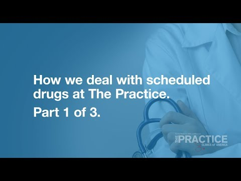 Dealing with scheduled drugs. Part 1 of 3.