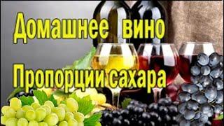 Вино из винограда. Вино в домашних условиях. Все о сахаре .