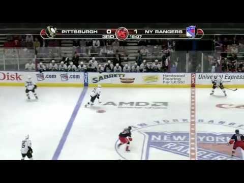 Ryan Callahan two hits on Evgeni Malkin | 03/19/2007 [HD]