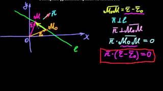 §36 Векторные уравнения прямой на плоскости