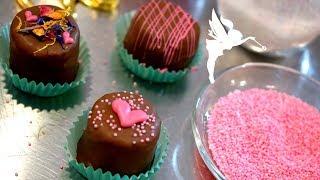 Last Minute Petit Fours zu Valentinstag - Petit Fours mit Schokoladen Überzug - Kuchenfee
