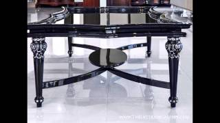 Modern Black Solid Wood Coffee Table - Estacado
