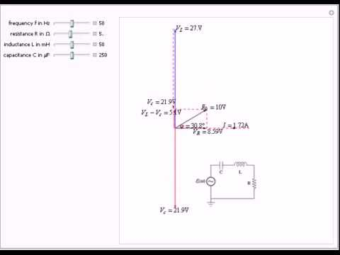 phasor diagram for series rlc circuits - youtube induction motor circuit diagram pdf rlc circuit diagram
