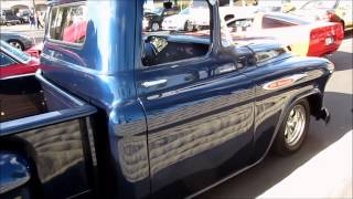 Awesome 1956 Ford truck & Chevy 3100 truck @ Cruisin Grand