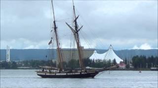Tall Ship Parade - Sorlandet - Peacemaker - Denis Sullivan - Niagara - Baltimore II - Lynx - Soo