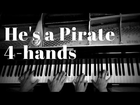 He's a Pirate 4-hands piano arrangement
