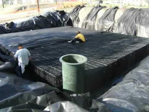 30000 gallon modular underground rainwater harvesting system