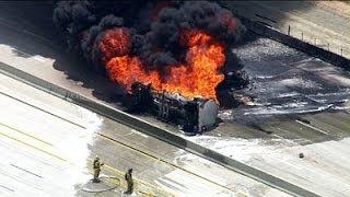Major! OIL TANKER EXPLOSION ... 8,000 Gallons on FIRE!