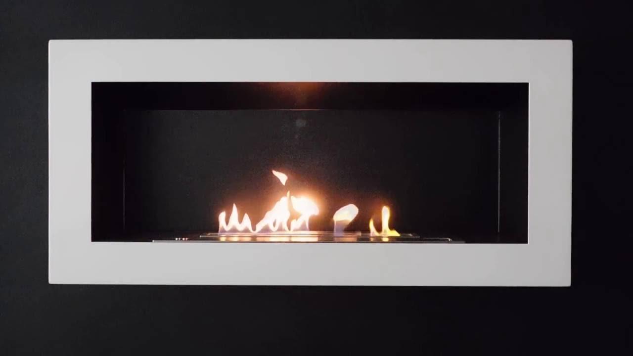 Kaminofen Mit Ethanol sasa l wandkamin bioethanol mit fernbedienung afire automatische