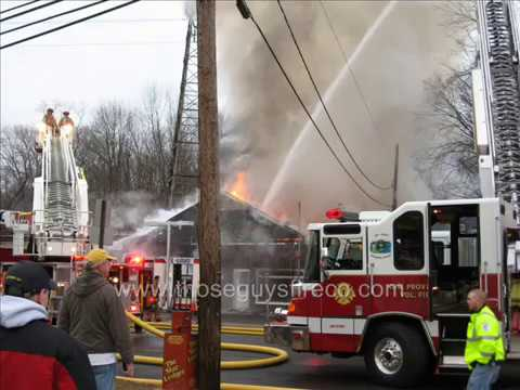 New Providence NJ Working Gas Station Fire 12-9-07