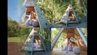 Home garden climbing frame ideas