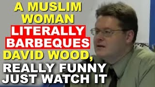 A Muslim Woman Literally BARBEQUES David Wood, really funny just watch it