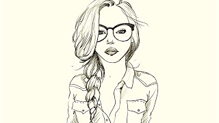 How to draw a Girl in Glasses