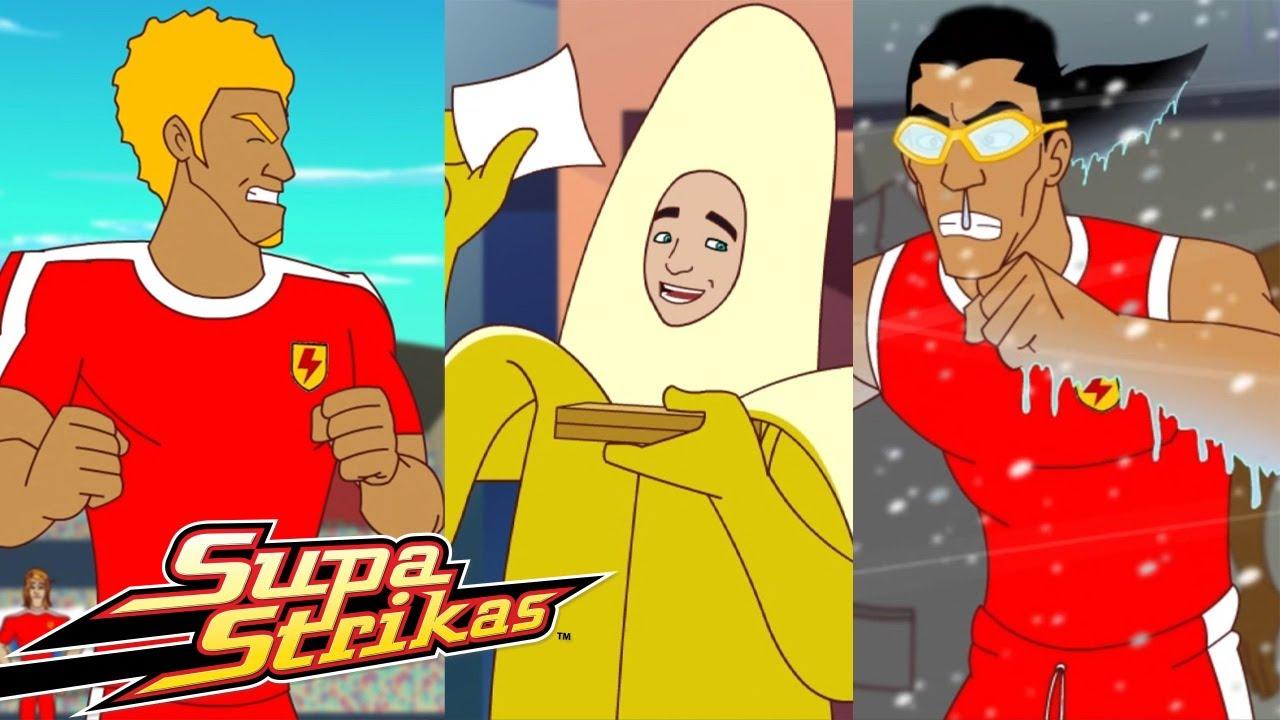 Supa Strikas | Supa Colección: O homem banana | Animados de FUTEBOL em Português!