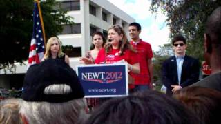 FAU SSDP gets political - Rally Recon: Newt Gingrich Coral Springs FL 2012
