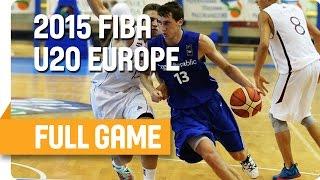 Latvia v Czech Republic - Classification 5-6 – Full Game  - U20 European Championship Men