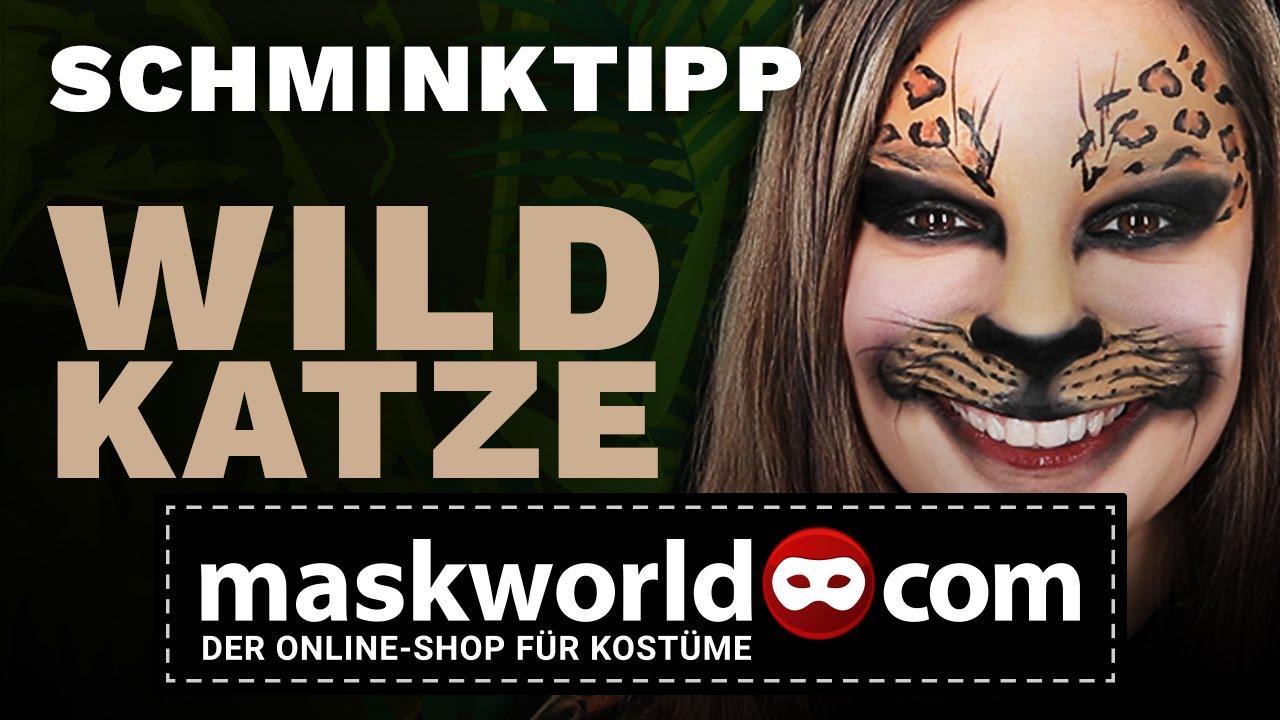 Schminktipp Wildkatze Make Up Tutorial Von Maskworld Com Youtube