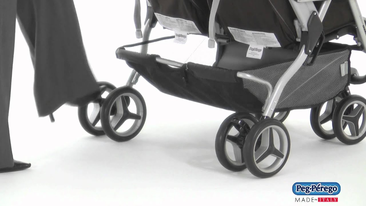 Peg Perego Stroller For Twins 2011 Double Stroller Peg Perego Aria Twin 60 40 How To Use The Rear One Touch Brakes