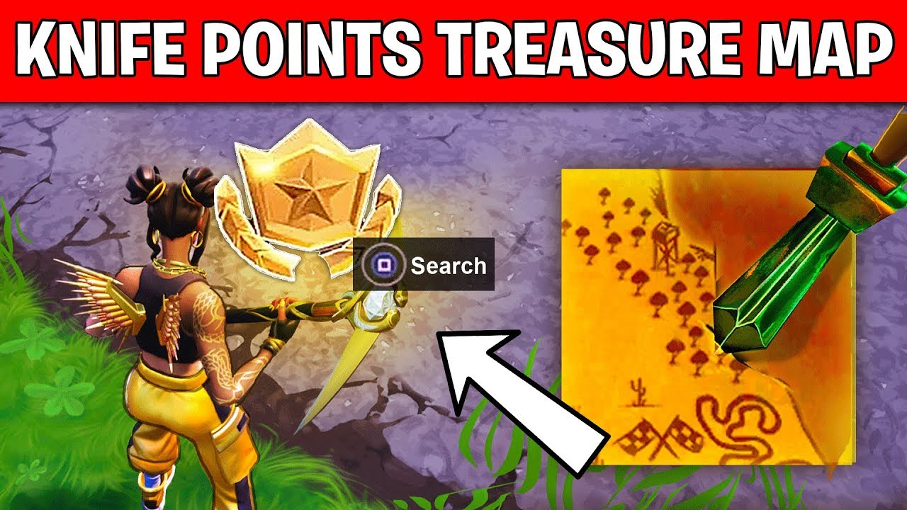 search where the knife points on the treasure map loading screen location week 6 challenge fortnite - fortnite knife loading screen location