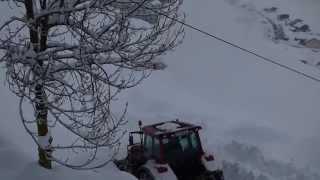 Schneeräumung bei extremen Bediengungen 2013-2014