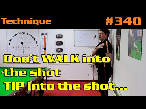Don't WALK Into The Shot, TIP Into The Shot…