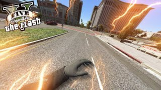 The Flash in First Person! (GTA 5 Flash Mod Gameplay)