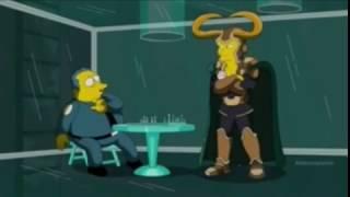 Бог  хитрости Локи Симпсоны