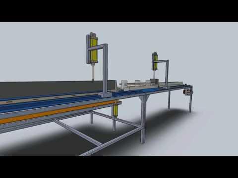 Animasi mesin pembentuk kertas karton