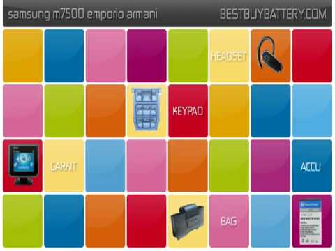 Samsung m7500 emporio armani www.bestbuybattery.com