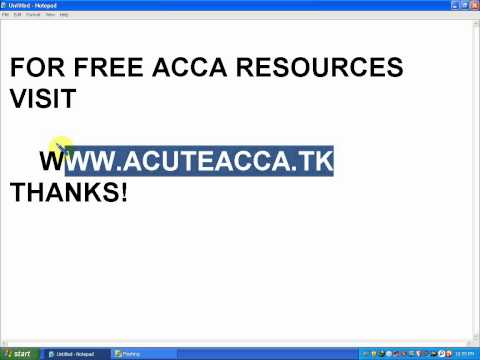 ACCA FREE RESOURCES AND LECTURES BY ACUTE ACCA|| WWW.ACUTEACCA.TK