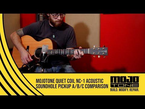 MOJOTONE Quiet Coil NC-1 Acoustic Soundhole Pickup A/B/C Comparison Demo