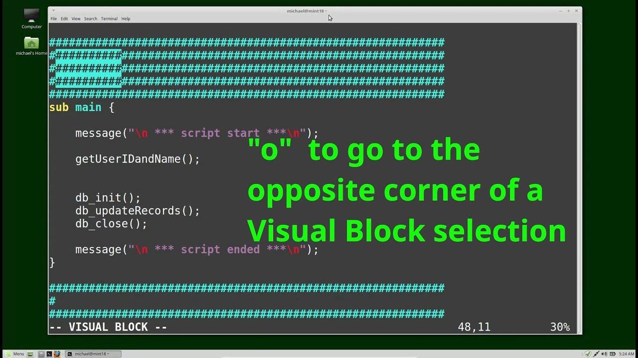 2f39f45d2d6b7f Vim (17) Visual Block Mode - YouTube