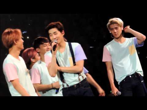 151017 THE EXO'LUXION in GUANGZHOU  exo cute talk sehun kai focus