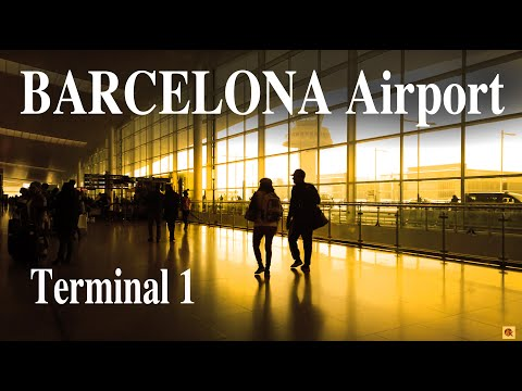 【Airport Tour】Barcelona-El Prat Airport Terminal T1 Check-in Area