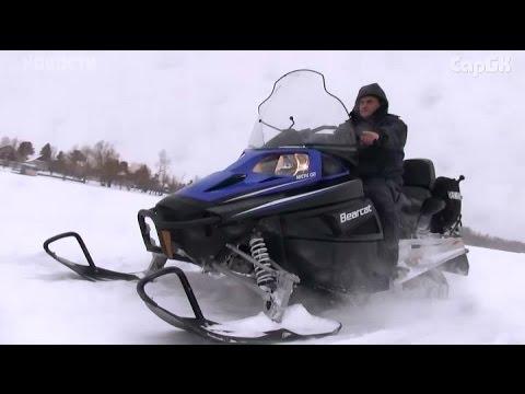 Погоня за снегоходами