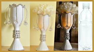 DIY Centerpiece Out of Plastic Bottles (With Light)