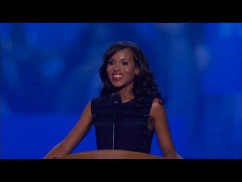Watch Kerry Washington's DNC speech