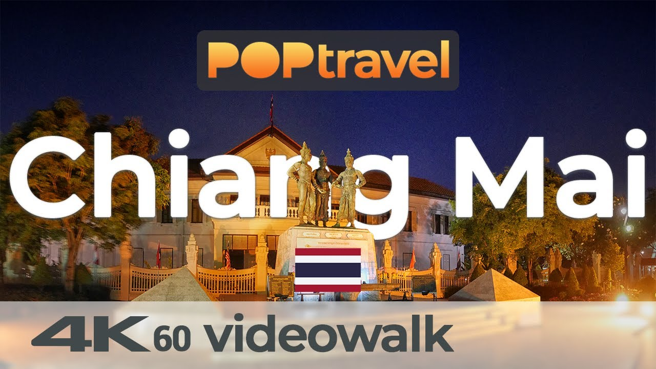 Walking in CHIANG MAI / Thailand ??Night streets and Saturday Market - 4K 60fps (UHD)