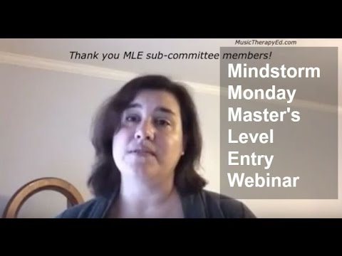 We LOVE the MLE subcommittee: Masters Level Entry for Music Therapy