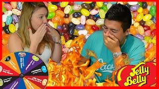 BEAN BOOZLED CHALLENGE WITH MY GIRLFRIEND! - TASTING VOMIT, BOOGER, ROTTEN EGG,  DOG FOOD & MORE!