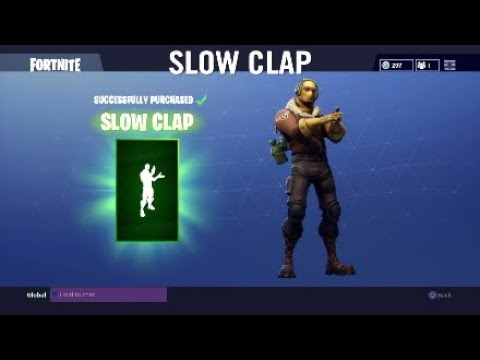 Fortnite Buying Slow Clap Youtube It is available in the item shop on 03/13/2020. fortnite buying slow clap