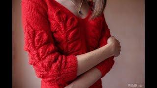 Вяжем пуловер узором