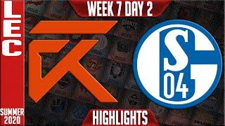 XL vs S04 Highlights | LEC Summer 2020 W7D2 | Excel vs Schalke 04