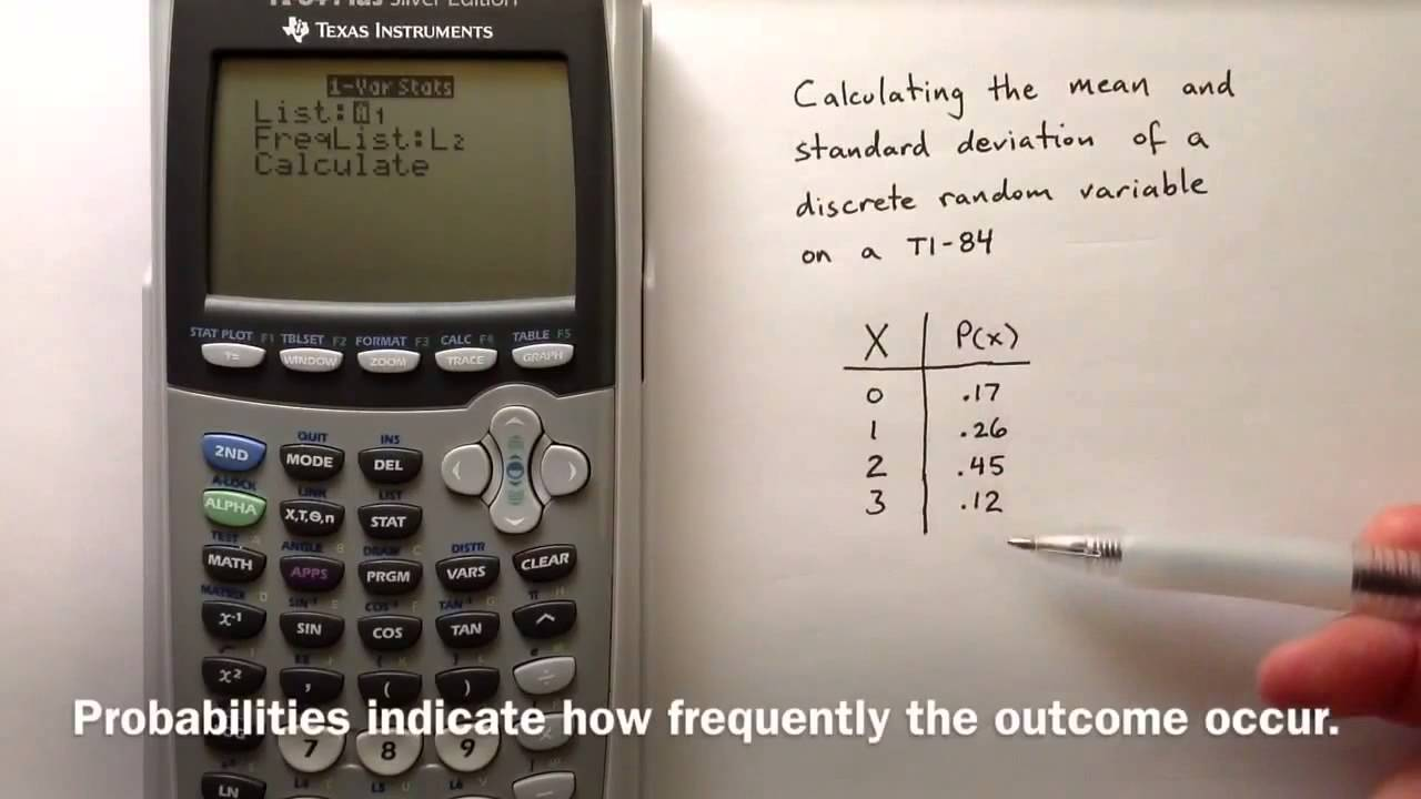 Discrete Random Variables On Ti84